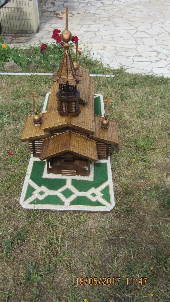 La chapelle orthodoxe de Sylvanes en maquette