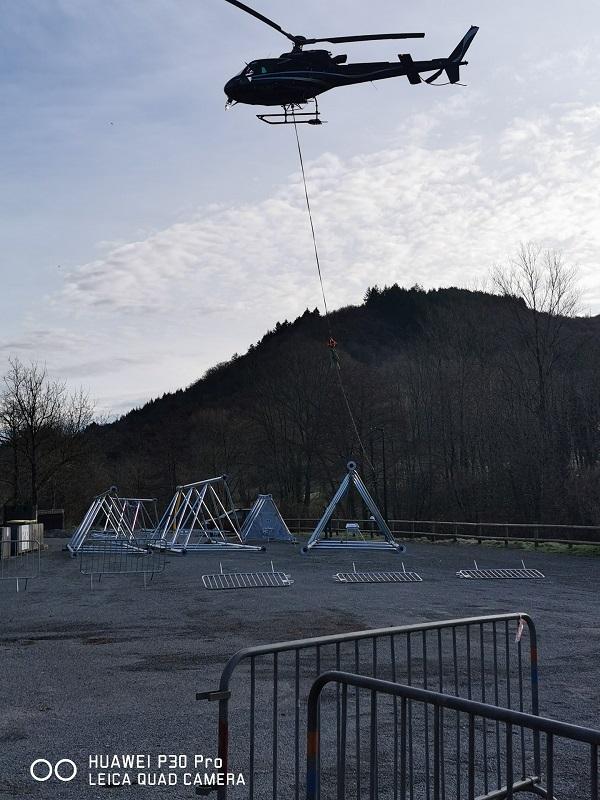 Mise en place du pylone pour l'antenne 4 G à Laroque