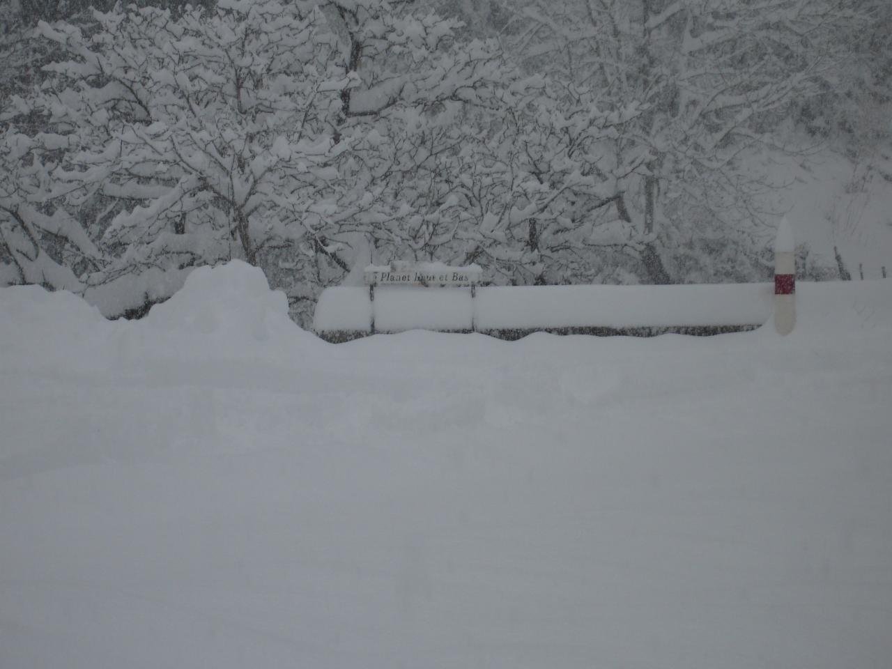 Le chemin du PLANET sous la neige en 2006