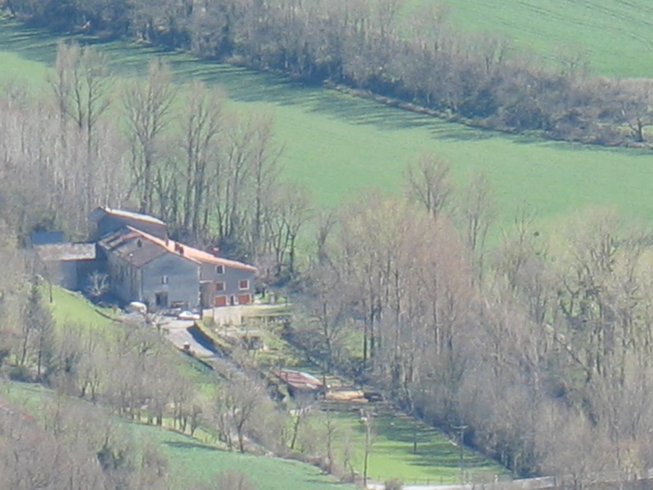 LE MOULIN DU DOURDOU (vue du pic de Roste)