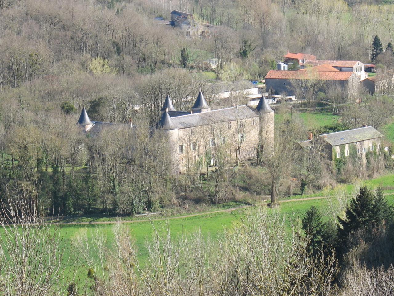Le château de FAYET (vue du pic de Roste)