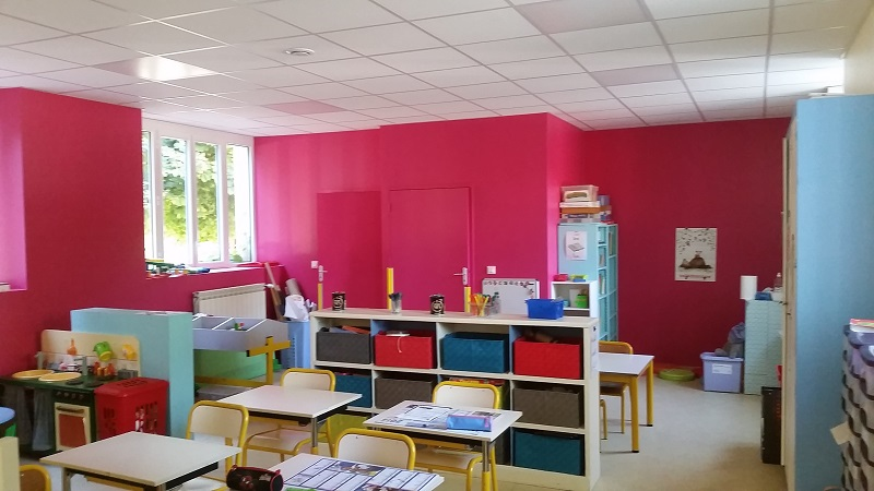 La classe des petits à l'école de FAYET (créée en 2018)