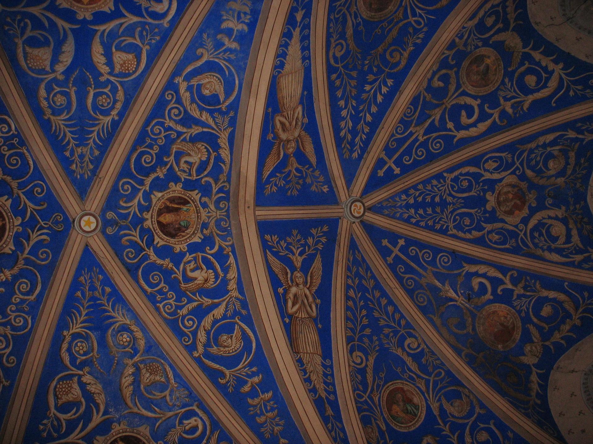 Plafond du cœur de l'église de LAROQUE