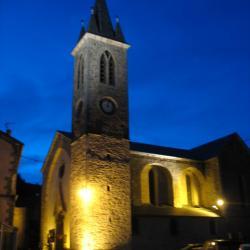 L'église de LAROQUE la nuit