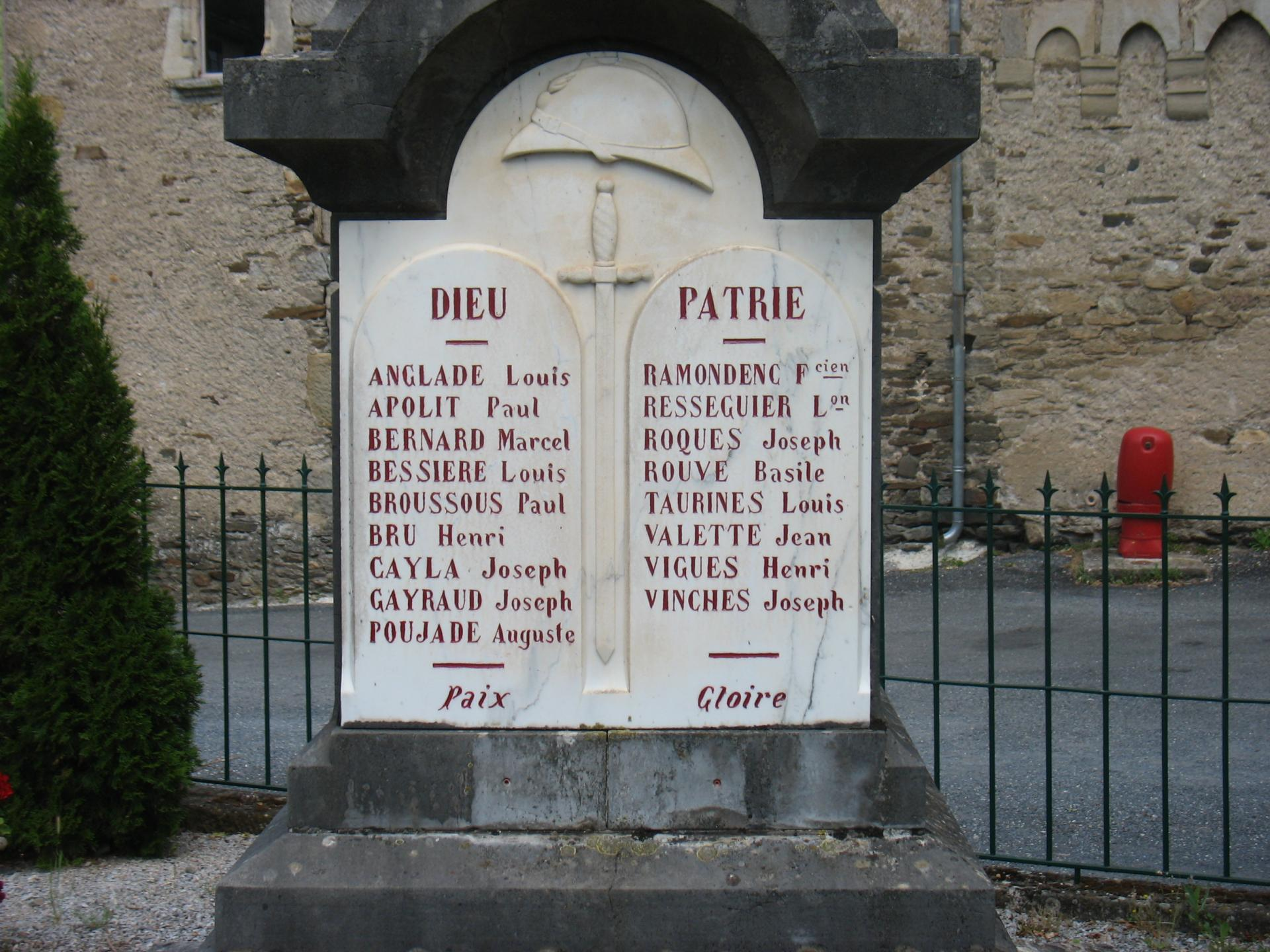 Morts pour la FRANCE LAROQUE
